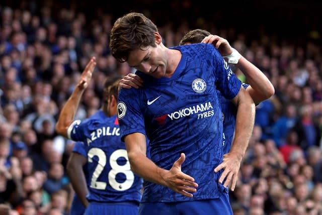 Marcos Alonso's first goal of the season fired Chelsea to a 1-0 victory over Newcastle on Saturday (Steven Paston/PA)