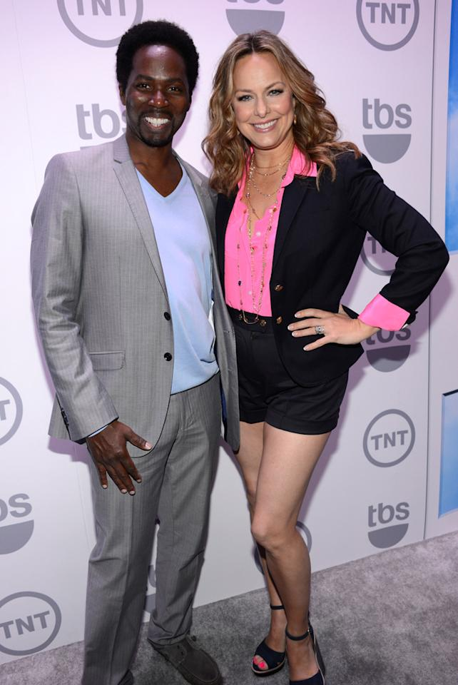 "Harold Perrineau and Melora Hardin (""The Wedding Band"") attend the TNT/TBS 2012 Upfront Presentation at Hammerstein Ballroom on May 16, 2012 in New York City."