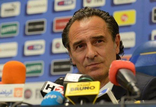 Italy's national football team coach Cesare Prandelli