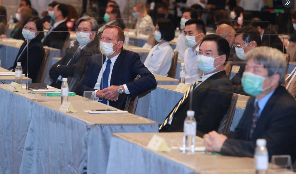 Tony Abbott pictured at the Yushan Forum during his visit to Taiwan. Source: Ministry of Foreign Affairs Taiwan