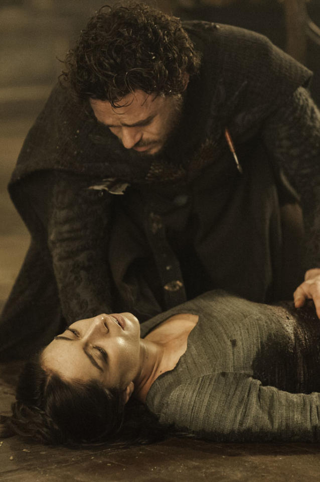 "Richard Madden and Oona Chaplin in the ""Game of Thrones"" episode, ""The Rains of Castamere."""