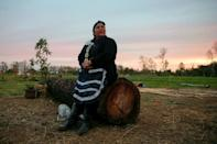 Mapuche 'machi', or spiritual guide, Jessica Huentemil says a new constitution will give her community strength (AFP/Javier Torres)
