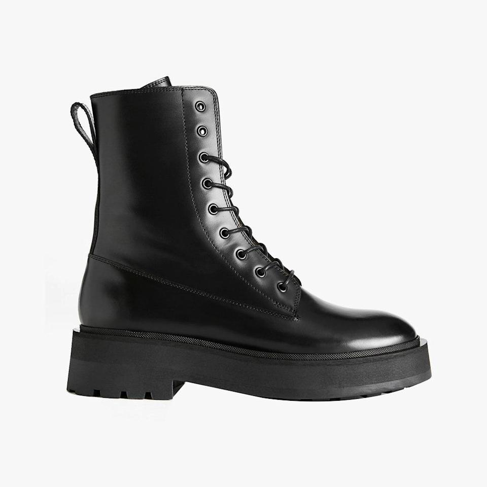 """$229, & OTHER STORIES. <a href=""""https://www.stories.com/en_usd/shoes/boots/product.chunky-platform-leather-boots-black.0877589001.html"""" rel=""""nofollow noopener"""" target=""""_blank"""" data-ylk=""""slk:Get it now!"""" class=""""link rapid-noclick-resp"""">Get it now!</a>"""