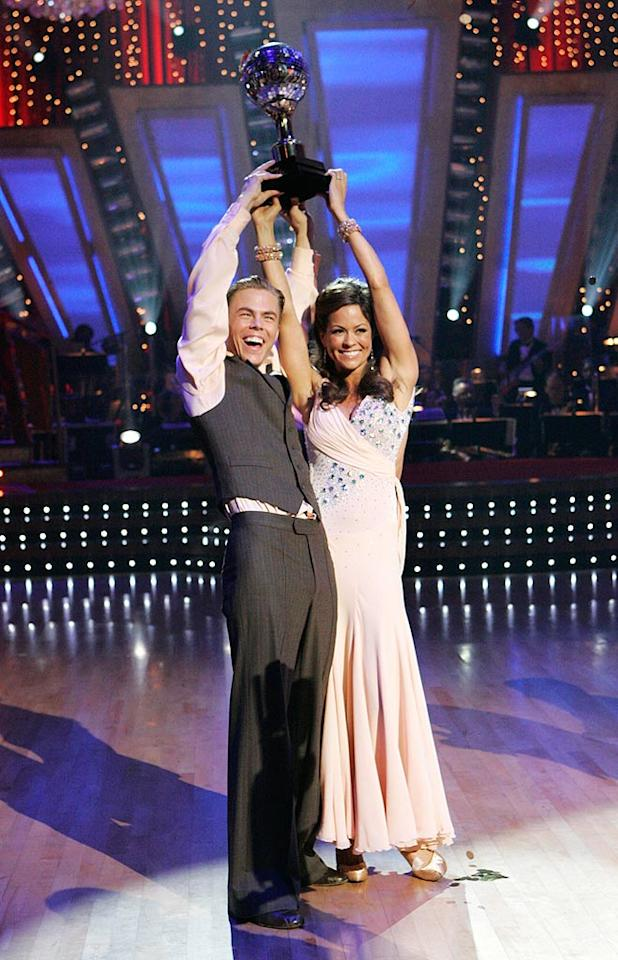"""© 2008 American Broadcasting Companies, Inc. All rights reserved. NO ARCHIVE. NO RESALE. Description: DANCING WITH THE STARS THE RESULTS SHOW - """"Episode 710A"""" - After weeks of entertaining drama, camaraderie and dazzling performances, Brooke Burke and her professional partner Derek Hough, were crowned champion of """"Dancing with the Stars,"""" on the Season Finale concluding TUESDAY, NOVEMBER 25 (9:00-11:00 p.m., ET), on ABC. (ABC/KELSEY MCNEAL)"""