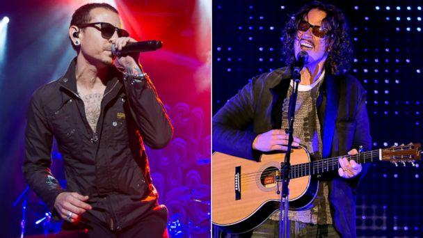 PHOTO: Chester Bennington of Stone Temple Pilots performs, April 10, 2015, in San Francisco.|Chris Cornell performs, Dec. 13, 2015 in Los Angeles. (FilmMagic | Getty Images )