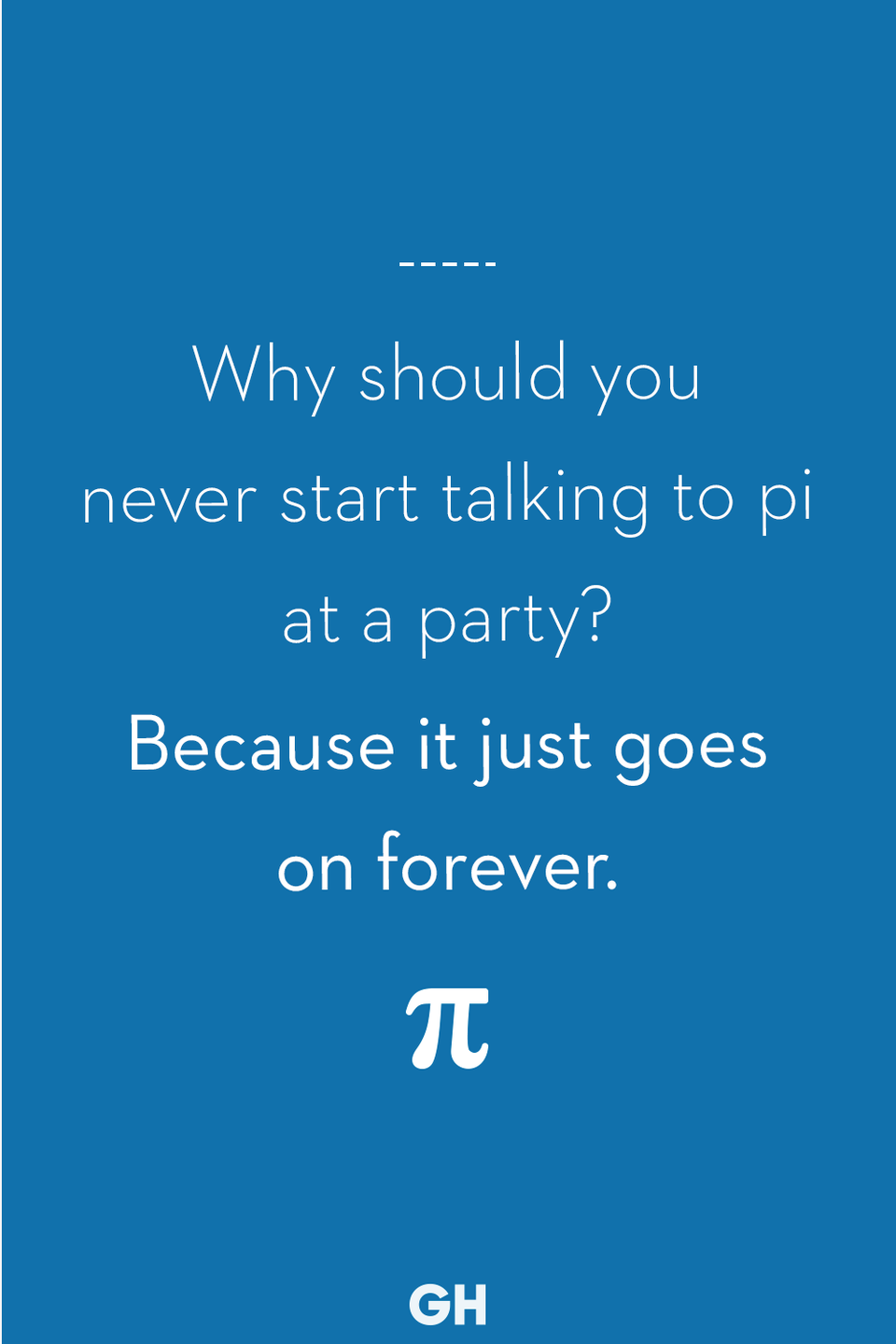 <p>Because it just goes on forever.</p>