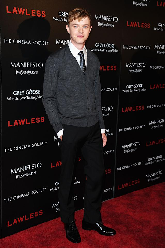 """Dane DeHaan at the New York Cinema Society screening of 'Lawless"""" on August 13, 2012."""