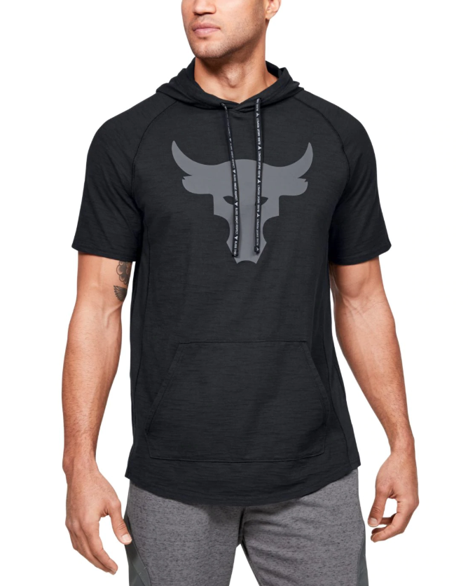Under Armour Project Rock Short Sleeve Hoodie