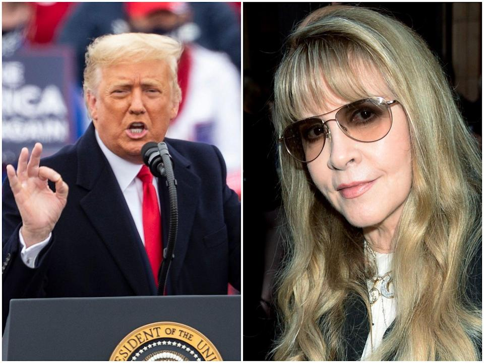 Donald Trump and Stevie Nicks (Rex)