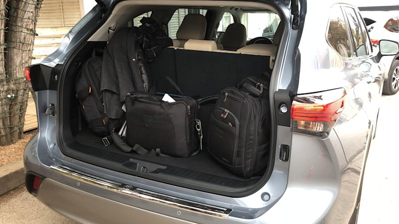 The 2020 Toyota Highlander has 16.0 cubic feet of space behind its third-row seat.