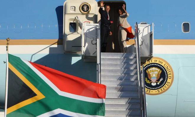 President Obama and the first lady depart South Africa for Tanzania on July 1.