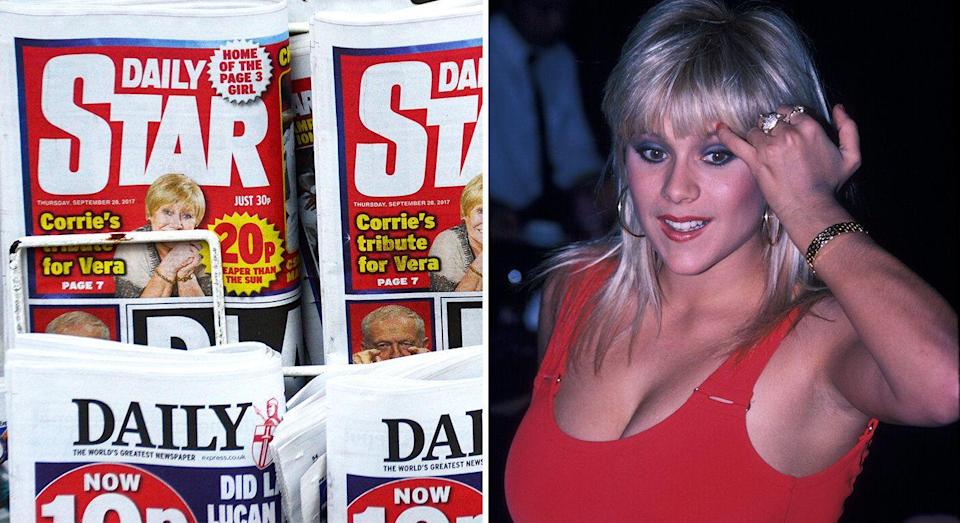 Samantha Fox (right) rose to fame as a Page 3 girl in the '80s. [Photo: Getty/PA]