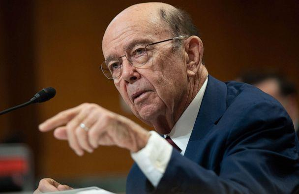 PHOTO: US Secretary of Commerce Wilbur Ross testifies during a Senate hearing on Capitol Hill in Washington, March 5, 2020. (Saul Loeb/AFP via Getty Images, FILE)