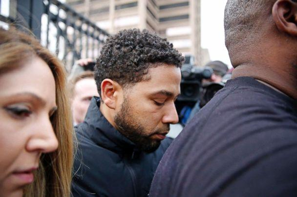 PHOTO: 'Empire' actor Jussie Smollett leaves Cook County jail after posting bond on Feb. 21, 2019, in Chicago. (Nuccio DiNuzzo/Getty Images)