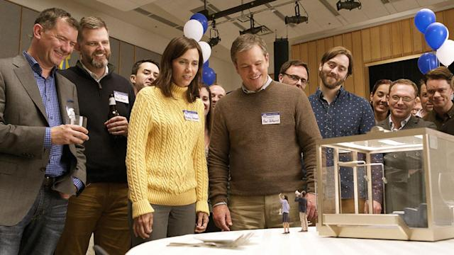 <p>It's the most audacious effort yet from Alexander Payne, writer-director of <em>Election</em> and <em>Sideways</em>, and it has drawn some love-it-or-hate-it reactions from critics. But just give yourself over to Payne's clever satire about a future where humans (including Matt Damon's Exceptionally Average Joe) can shrink down to the size of insects to live like kings in miniature suburban developments and you'll be rewarded with big laughs, sharp insight about greed versus the greater good, and a star-making turn from newcomer Hong Chau. <em>— K.P. </em>(Photo: Everett Collection) </p>