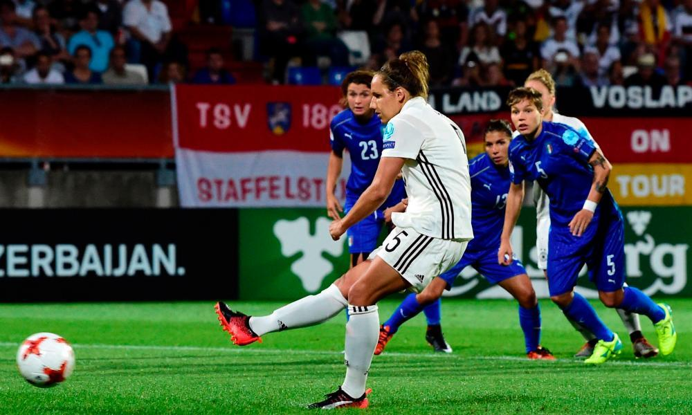 Euro 2017: Babett Peter seals win from spot as Germany battle past Italy