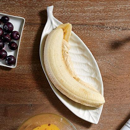 """<p>For a lightly sweetened <a href=""""https://www.myrecipes.com/healthy-diet/healthiest-late-night-snacks"""" rel=""""nofollow noopener"""" target=""""_blank"""" data-ylk=""""slk:late-night treat"""" class=""""link rapid-noclick-resp"""">late-night treat</a>, bite into Banana Fluffer Nutters.</p>"""