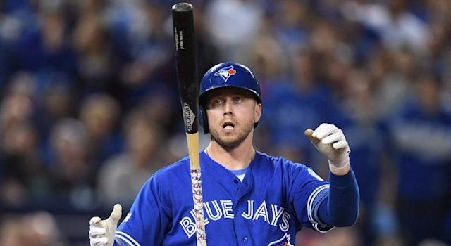 More contact hasn't meant less contact for Justin Smoak (Frank Gunn/CP)