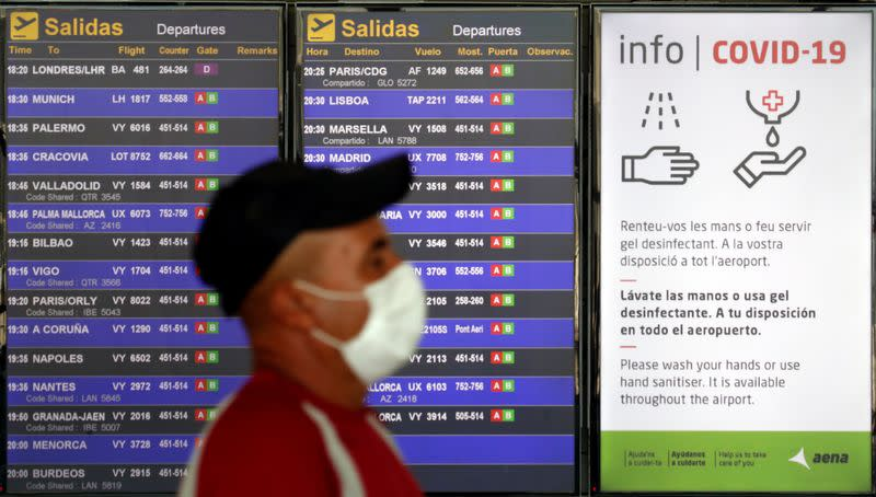 Spanish airports see traffic falling after UK quarantine scares off tourists
