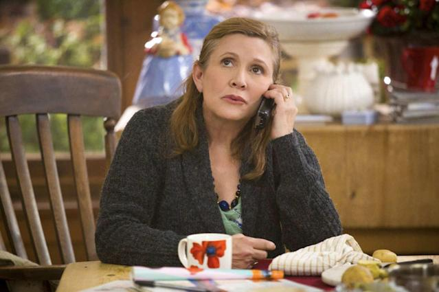 <p>How lovely that Carrie Fisher, who completed work on the third season of <i>Catastrophe</i> shortly before her death, should get an Emmy nomination for Outstanding Guest Actress in a Comedy Series for her role as Rob Delaney's mom. She had only a few scenes, but they were small gems, glowing with Fisher's urgent life force. <i>— Ken Tucker</i><br><br>(Photo: Amazon) </p>