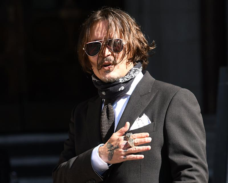 Johnny Depp arriving at the High Court in London on Friday (Photo: Doug Peters/EMPICS Entertainment)