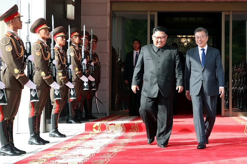 Moon and Kim meet in May at the north side of the border truce village of Panmunjom