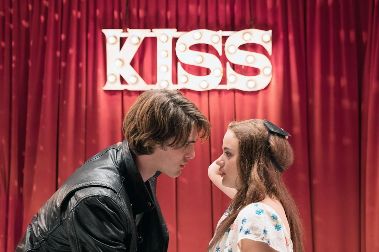 """<p>A high school girl signs up to run a kissing booth at the Winter carnival, but gets way more than she bargained for. When she falls for her best friend's brother, a lopsided and complicated triangle emerges.</p> <p>Watch <strong><a href=""""http://www.netflix.com/title/80143556"""" target=""""_blank"""" class=""""ga-track"""" data-ga-category=""""Related"""" data-ga-label=""""http://www.netflix.com/title/80143556"""" data-ga-action=""""In-Line Links"""">The Kissing Booth</a> </strong>now.</p>"""