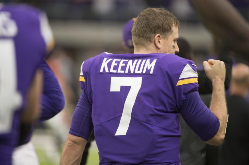 Case Keenum can hit free agency again in two seasons. (AP)