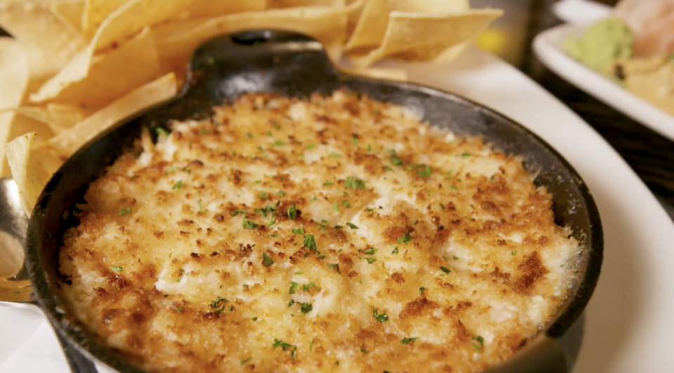 <p>How did it take us this long to get to a dip?? This dip is the perfect example of an app that you're expected to share but you simply won't. The creamy lemony dip is loaded with shrimp, scallops, and crab and it will make you feel like the fanciest person at the table.</p>