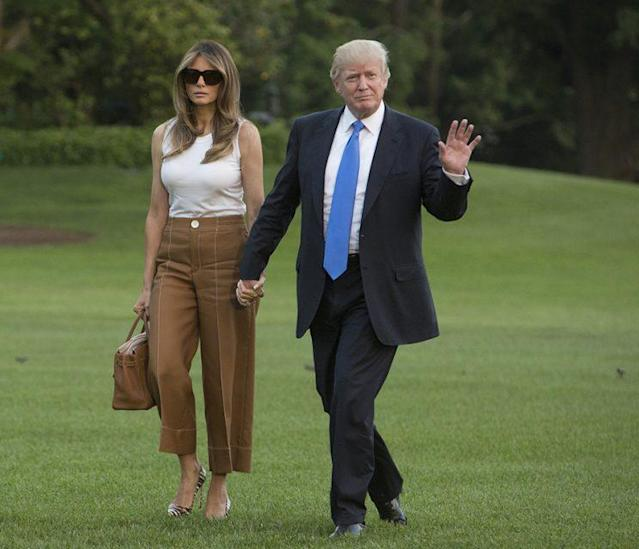 Melania Trump moving into the White House. (Photo: Getty Images)