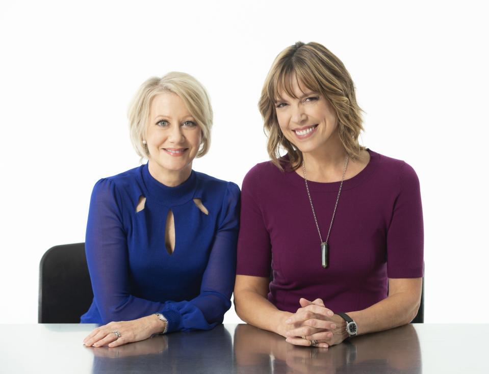 """Veteran sportscasters Andrea Kremer (L) and Hannah Storm will be in the booth for Amazon Video's """"Thursday Night Football"""" games, beginning this week. (Courtesy Amazon)"""