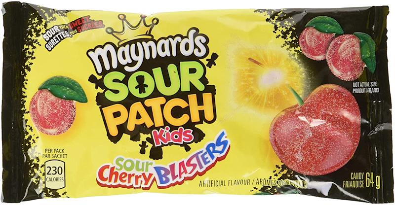 Maynards Maynards Sour Cherry Blasters Candy, 64 Grams (Pack of 18). Image via Amazon.