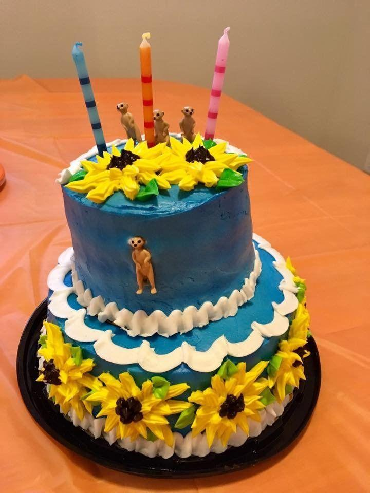 """Meerkats and sunflowers for my daughters 3rd birthday party this week."" -- Emilie Davidson"