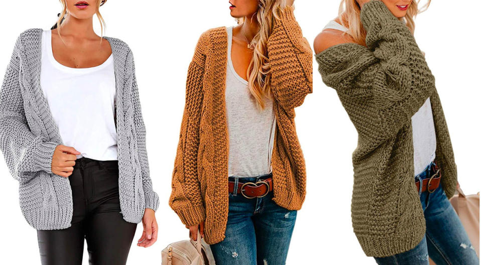 Astylish Open Front Long Sleeve Chunky Knit Cardigan (Photo: Amazon)