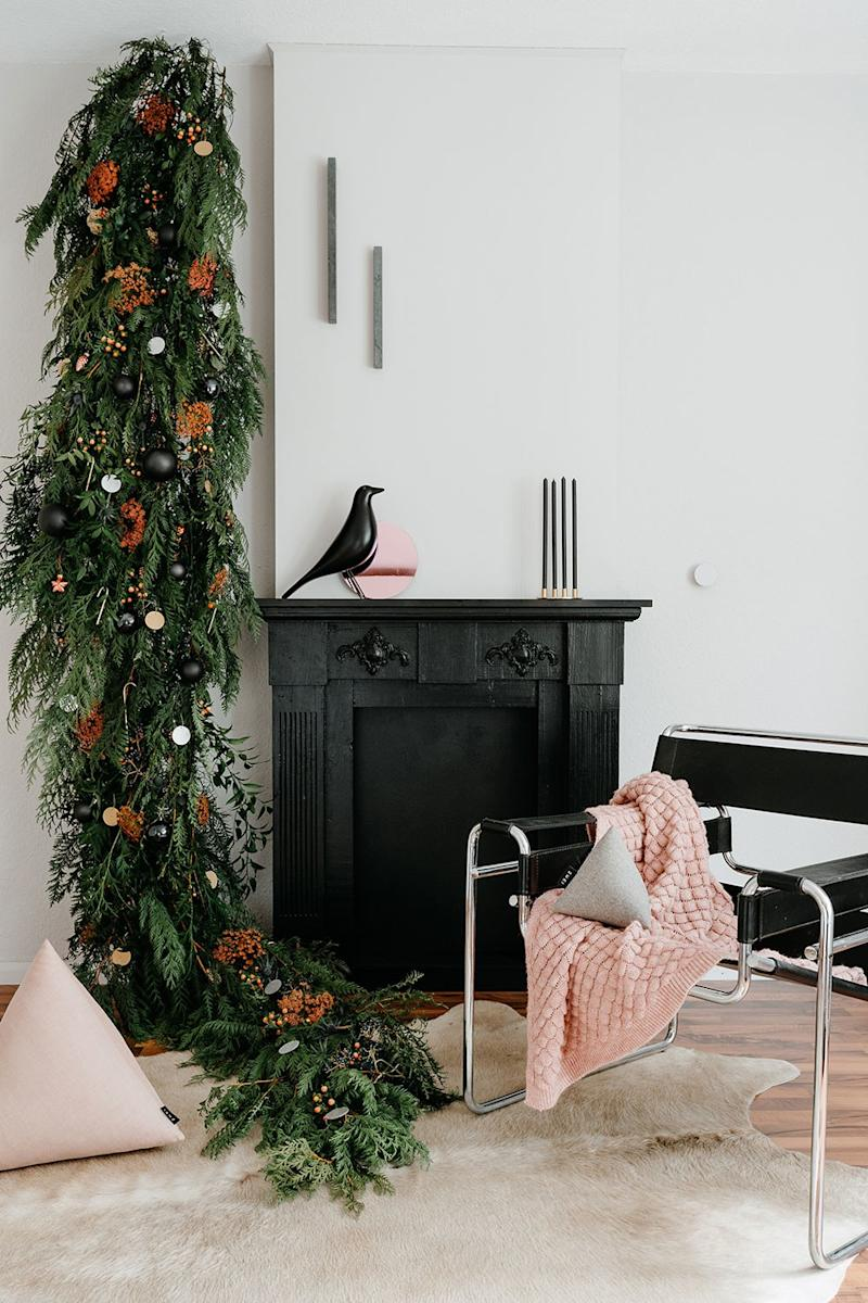 """We understand that to many people a proper Christmas tree is an essential part of of the holiday season. However, for those of us who must or choose to live more minimally, but still want the full feeling of the holidays, a Christmas hanging is a perfect alternative!"" says Talitha."