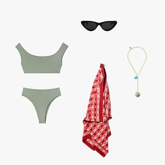 Shop looks inspired by models' vacation Instagrams—even if you're just heading to the nearest pool.