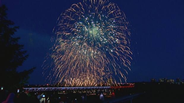 Edmonton's annual Canada Day fireworks were cancelled last year due to the pandemic. (Rick Bremness/CBC - image credit)