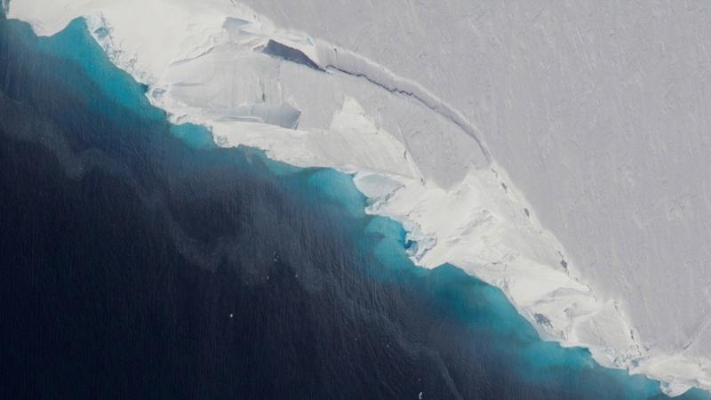Thwaites Glacier in West Antarctica. | NASA/OIB/Jeremy Harbeck