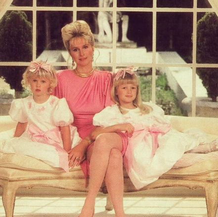 """<p>Hotel heiress Paris Hilton (right) with her sister Nicky and mother Kathy: """"Back in the day when my mom would always dress up my sister and I as #Twins. #BabyParis #ThrowbackThursday"""" -<span>@parishilton</span> (Instagram) <br></p>"""
