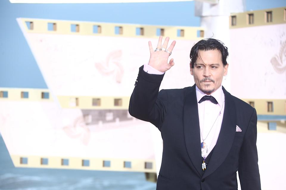 Johnny Depp arrives at the red carpet during the closing ceremony of 1st Hainan International Film Festival on December 16, 2018 in Sanya, Hainan Province of China. (Photo by VCG/VCG via Getty Images)