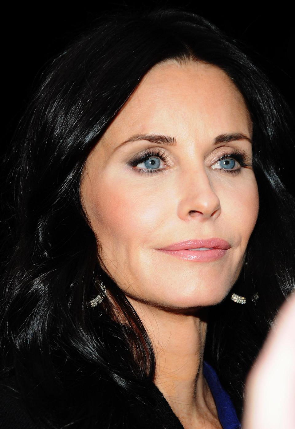 """<div class=""""caption-credit""""> Photo by: (Photo by Desiree Navarro/FilmMagic)</div>"""" It's not that I haven't tried Botox - but I hated it,"""" Courteney Cox admitted in a <i>Marie Claire</i> interview. """"I went to this doctor once, and he was like, 'Oh, let me do it just here and here and here.' And I was miserable. I mean, I'm an actor, I've got to be able to move my face."""""""