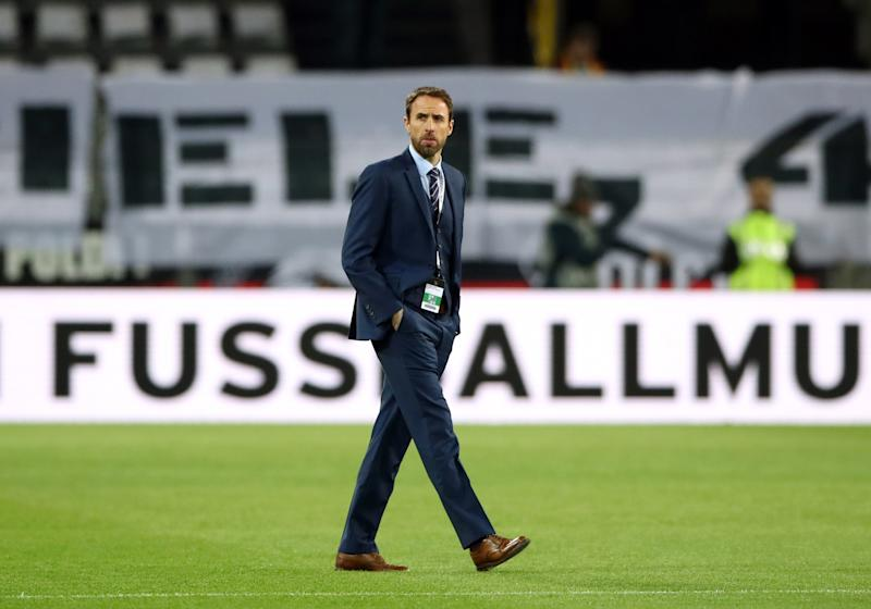 Gareth Southgate and his shiny shoes