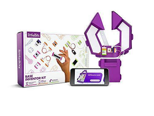 """<p><strong>littleBits</strong></p><p>amazon.com</p><p><strong>$55.99</strong></p><p><a href=""""https://www.amazon.com/dp/B07BFQN5KH?tag=syn-yahoo-20&ascsubtag=%5Bartid%7C10055.g.29419638%5Bsrc%7Cyahoo-us"""" rel=""""nofollow noopener"""" target=""""_blank"""" data-ylk=""""slk:Shop Now"""" class=""""link rapid-noclick-resp"""">Shop Now</a></p><p>While previous versions of littleBits have won <em>Good Housekeeping</em> Toy Awards in the past, this kit is all your 9-year-old needs to explore his interest in STEM. He can customize the robotic arm to make it feel more personalized, and control his functions on a device with the free app. There are 12 different activities to complete, which <strong>transform the robot into other cool inventions </strong>(like an intruder alarm). <em>Ages 8+</em></p>"""