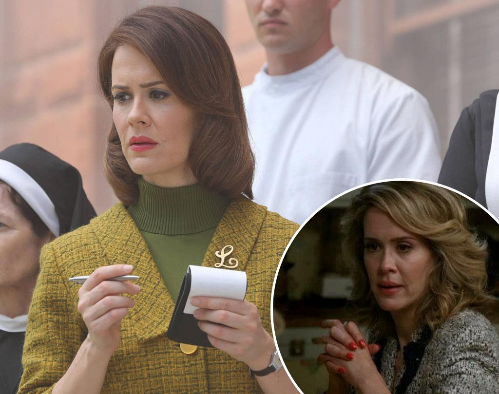 "<b>Sarah Paulson </b><br><br><b>You Know Her From:</b> Her Season 1 role as Constance's psychic friend Billie (inset). She also earned an Emmy nomination for HBO's ""Game Change"" and a Golden Globe nod for Aaron Sorkin's ""Studio 60 on the Sunset Strip."" <br><br><b>Now She Plays:</b> Lana Winters, an ambitious reporter who's angling to get inside Briarcliff and land an exclusive interview with Bloody Face. She'll have to get through Sister Jude to do it, though."