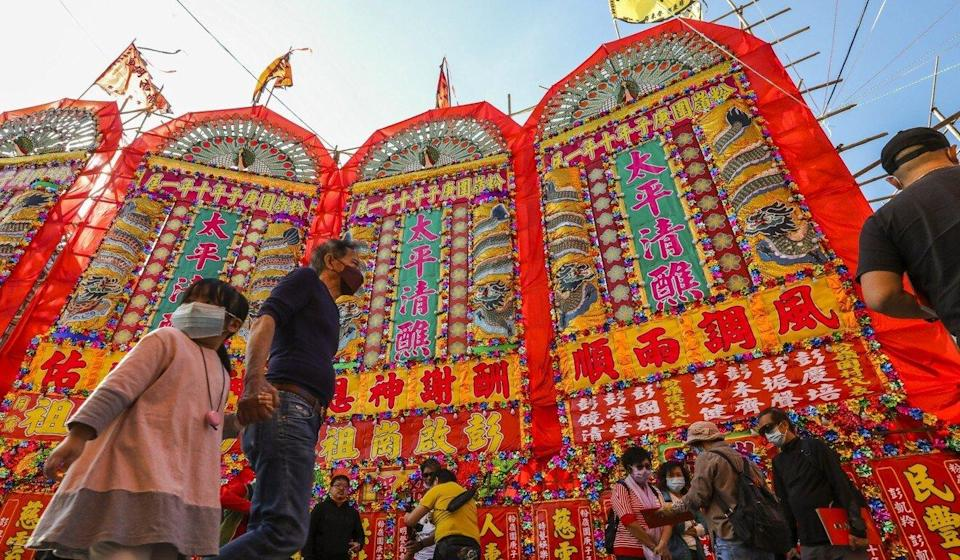 Some festivals in rural parts of Hong Kong are funded by tso/tong money. Photo: Nora Tam
