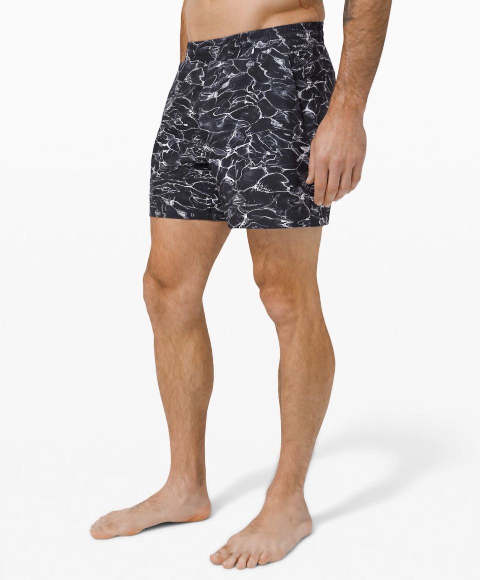 "<p><strong>Lululemon</strong></p><p>lululemon.com</p><p><a href=""https://go.redirectingat.com?id=74968X1596630&url=https%3A%2F%2Fshop.lululemon.com%2Fp%2Fmens-swim%2FChannel-Cross-Swim-Short-5-MD%2F_%2Fprod9410003&sref=https%3A%2F%2Fwww.menshealth.com%2Fstyle%2Fg33393057%2Flululemon-made-too-much-sale-summer-shorts-mens-deals%2F"" rel=""nofollow noopener"" target=""_blank"" data-ylk=""slk:BUY IT HERE"" class=""link rapid-noclick-resp"">BUY IT HERE</a></p><p><del>$78.00<br></del><strong>$49.00</strong></p><p>Beach vacation postponed? You can buy swim trunks on sale now and have a fresh pair waiting for you once it's rescheduled.</p>"