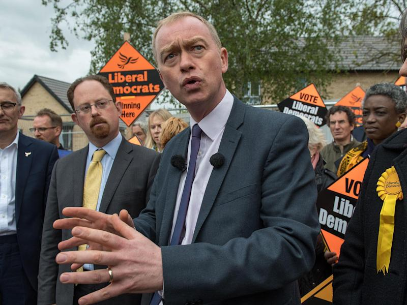 The Lib Dem leader said he was 'disgusted' by the PM's stance: Getty