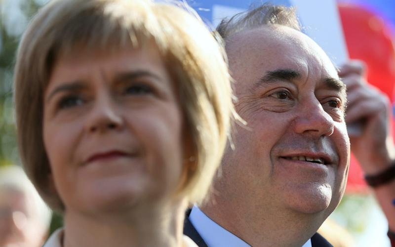 Alex Salmond and Nicola Sturgeon - once close allies - are now bitter enemies - Paul Hackett/Reuters
