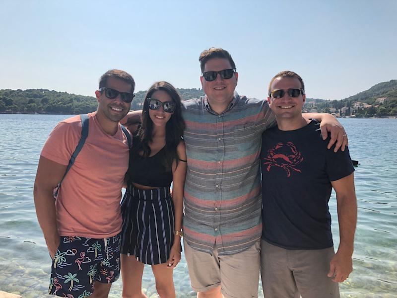Joe Flamm, Kara Callero, Frank Callero, and Steven Zaleski on a recent trip to Croatia. | Joe Flamm.