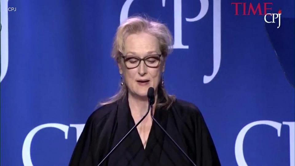 """Meryl Streep recalled having to """"play dead"""" when she was once beaten. Copyright [TIME]"""